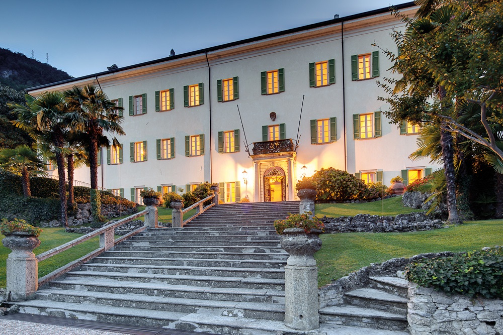wedding location in Lake Como Night View of Villa, 87