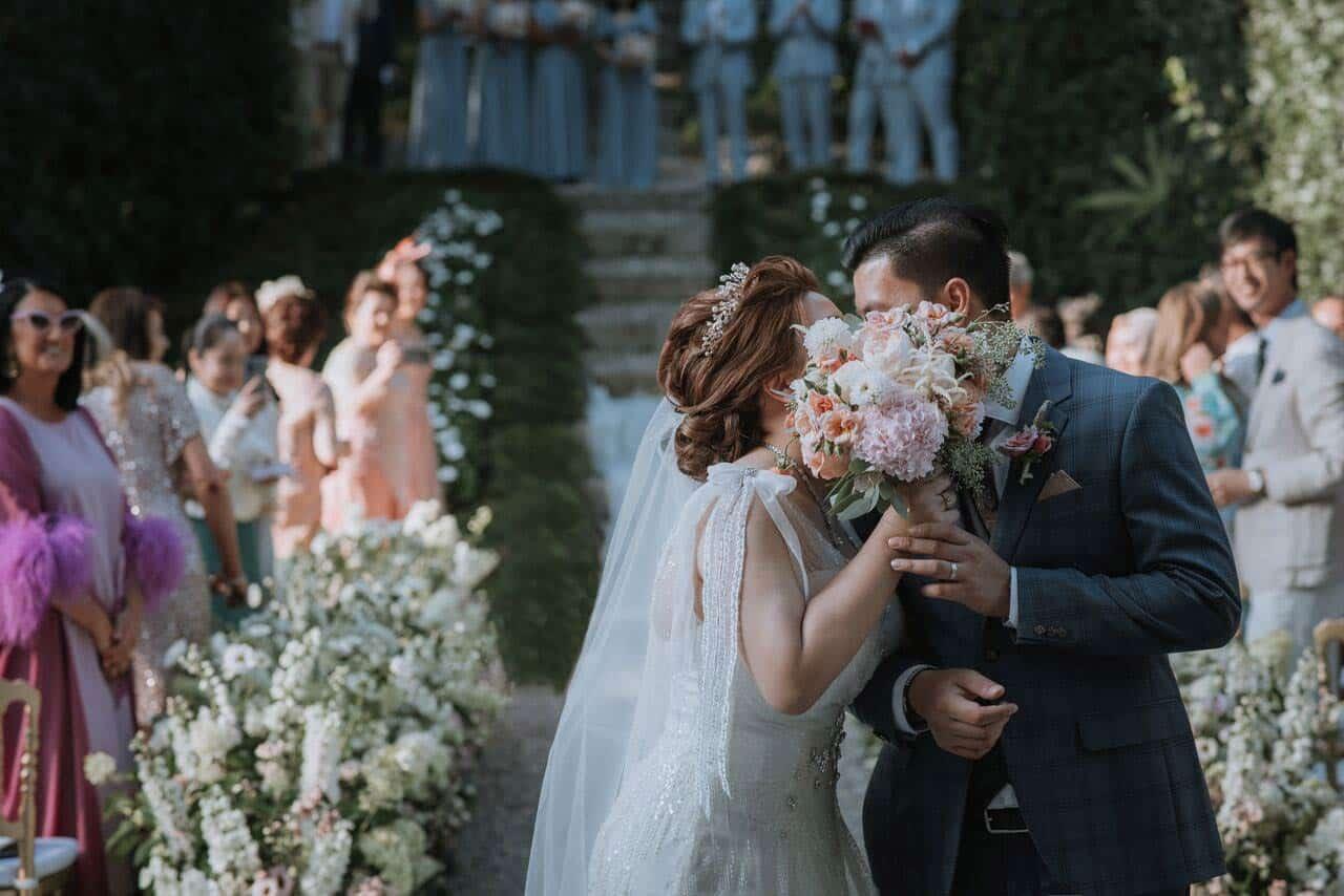 extravagant wedding in Lake Como