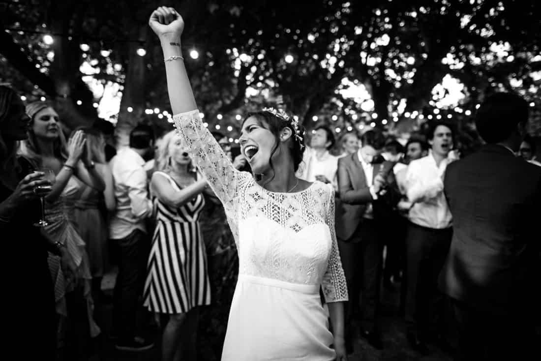 Let's Party! destination wedding in Les Baux de Provence for a destination wedding planned by Muriel Saldalamacchia Photo by Cecile Creiche