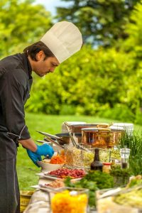 Destination wedding in lake Como food catering by chef giancarlo moretti