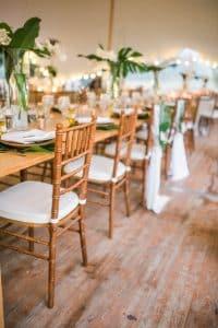 Tropical wedding decor 5 in South of France wedding planner Muriel Saldalamacchia Photo by Dan Petrovic