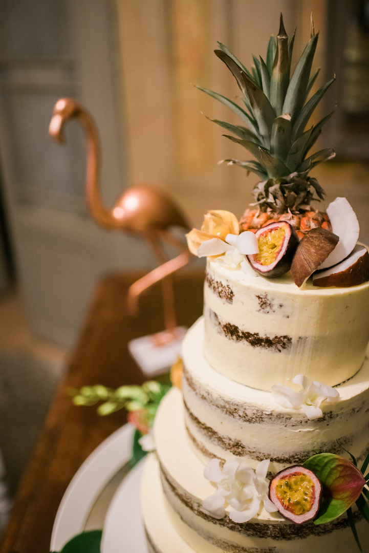 Wedding Cake Tropical wedding in South of France wedding planner Muriel Saldalamacchia Photo by Dan Petrovic