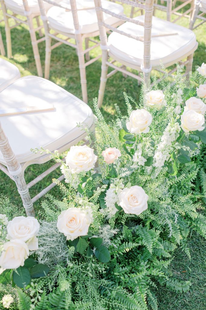 garden wedding in a chateau