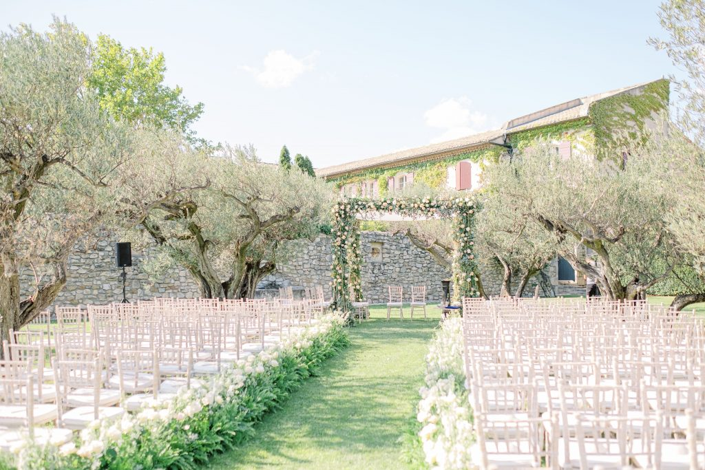 garden style wedding in France